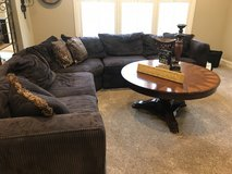 Brown Sofa Sectional , Comfy as all heck! in Naperville, Illinois
