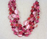 "NWOT Pink Red Coral 24"" Fuchsia Bead Strand Necklace Statement Chain in Houston, Texas"