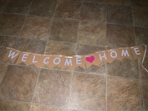 "Free ""welcome home"" sign in Camp Pendleton, California"