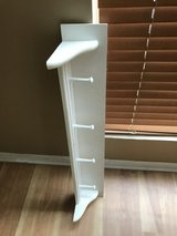 White Painted Hook Wall Shelf / Coat Rack in Aurora, Illinois
