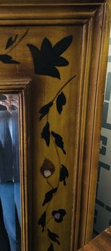 Large Antique Mirror with Hand-painted Frame in Fort Belvoir, Virginia