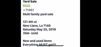 Yard Sale in Fort Polk, Louisiana