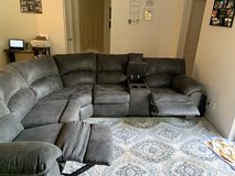 Grey Reclining Sectional in Fort Hood, Texas