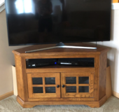 TV stand -solid wood! in Joliet, Illinois