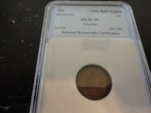 1863 ms 64 rb civil war token our army in Fort Campbell, Kentucky