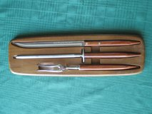 Robeson (Teak?) Carving Set in Naperville, Illinois