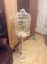 Solid Metal Birdcage on Pedestal about 47 inches tall in Joliet, Illinois
