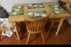 Natural Wood Dining Room Set in Camp Lejeune, North Carolina