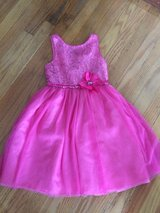 Girls pink dress size seven in Orland Park, Illinois