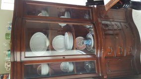 Bow front China cabinet in Fort Hood, Texas