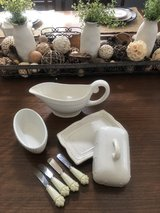 Princess House Butter Dish, Gravy Boat Bowl and Spreaders in Hemet, California