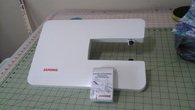 Extension  table and  quilting attachments never used for a janome 3160 in Camp Lejeune, North Carolina