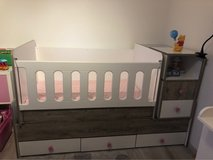 Bed / crib bassinet all in one with 2 mattresses in Sandwich, Illinois