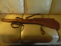 Vintage 1950's leather scabbard for rifle with scope in Bartlett, Illinois