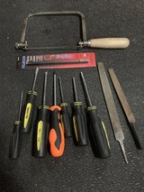 Screwdrivers, files, coping saw-Hand Tools in Okinawa, Japan