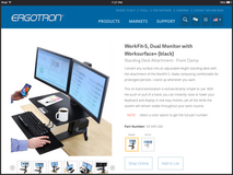 Ergotron Sit - Stand Workstation in Hemet, California