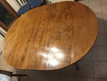 "Solid Wood Dining Table, Oval Shape 54""L in Glendale Heights, Illinois"