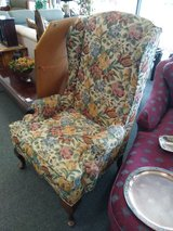 Wing Back Chair Flower Print in St. Charles, Illinois