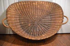 Antique French Winnowing Basket in Conroe, Texas