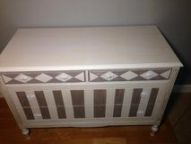 Charming Beige / White French Country Designer Dresser in Conroe, Texas