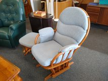 Light Blue Glider Chair and Foot Stool in St. Charles, Illinois