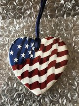 Longaberger Heart Shaped Flag All-American Tie-on in Plainfield, Illinois