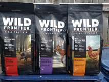 4lb Wild Frontier Dog Food 3bags in Naperville, Illinois