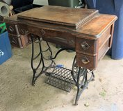 Antique Vindex Special Sewing Machine & Oak Cabinet in Glendale Heights, Illinois