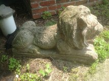 Cement Lion Statue in Glendale Heights, Illinois