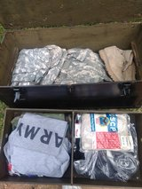 Box of army item's in Fort Campbell, Kentucky
