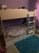 Twin bunk bed with mattresses in Fairfield, California