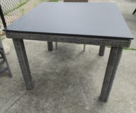 Outdoor Square Table, Slate-Look Top, Merchandise Mart Floor Sample in Bolingbrook, Illinois