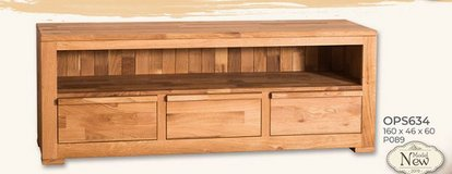 United Furniture - TV Stand 63 inch - Solid Wood - Wild Oak including delivery- Wax or Oil Finish in Stuttgart, GE