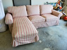 Couch with chaise lounge in Camp Lejeune, North Carolina