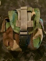 Woodland Camo Canteen Pouch in Fort Benning, Georgia