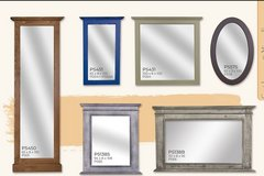 United Furniture - Mirrors with Solid Wood Frame - in all colors and finishes in Spangdahlem, Germany