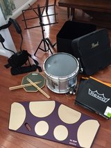 Drum Set (Pearl Snare Marching Drum and Quadropad--plus accessories). Practically new drum. in Camp Lejeune, North Carolina