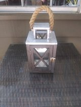 Outdoor candle lantern in Houston, Texas
