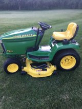 John Deere TRACTORS and MISC. EQUIPMENT; BAGGERS,SNOWBLOWERS,PLOWS, DECKS,WHEELWEIGHTS ETC. in Naperville, Illinois