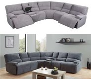 United Furniture - Havana Sectional in Light and Dark Gray including delivery in Stuttgart, GE