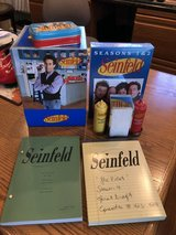 Seinfeld Gift Set-Seasons 1,2,3 plus Script, Playing Cards, Salt & Pepper with Napkin Holder in Bolingbrook, Illinois