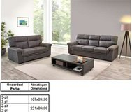 United Furniture - Florenze Living Room set in Graphite material including delivery in Stuttgart, GE
