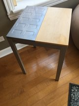 Wood and metal side table in Palatine, Illinois