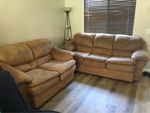 Suede Beige Couch & Loveseat in Camp Pendleton, California