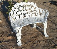 decorative garden bench,die cast aluminum in 29 Palms, California