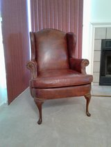 Leather wing back chair in Fairfax, Virginia