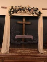 Wedding Arbor/Arch with Silk Floral Arrangement and Drapes in Glendale Heights, Illinois