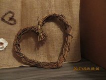 Natural Rattan Heart in Glendale Heights, Illinois