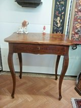 Antique Louis Philippe desk saloon table with drawer in Wiesbaden, GE