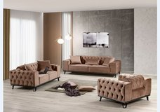United Furniture - Leon Living Room Set in brown and emerald green including delivery in Stuttgart, GE